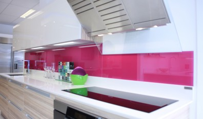 Pink Glass Splashback Bespoke Glass Splashbacks Bedfordshire