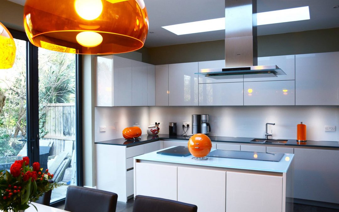 Cutting edge glass splashbacks and worktops in East London